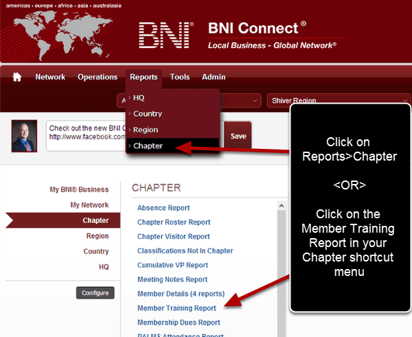 Member Training Report – BNI Connect Support - How Can We Help You?
