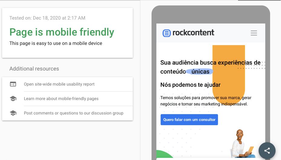 Make sure your site is mobile-friendly