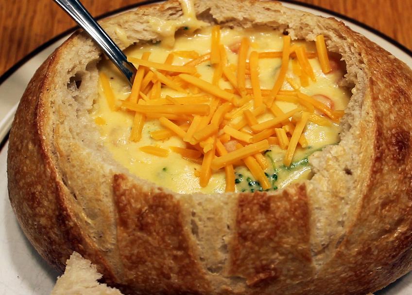 Copycat Panera Bread Broccoli and Cheese Soup Bread Bowl