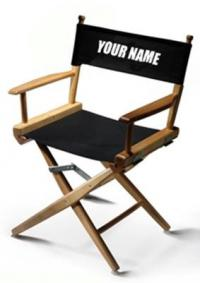 customized directors chair office pillow back support half the picture seed spark a personalized director s and attend cast crew wrap party celebrating completion of in los angeles airfare