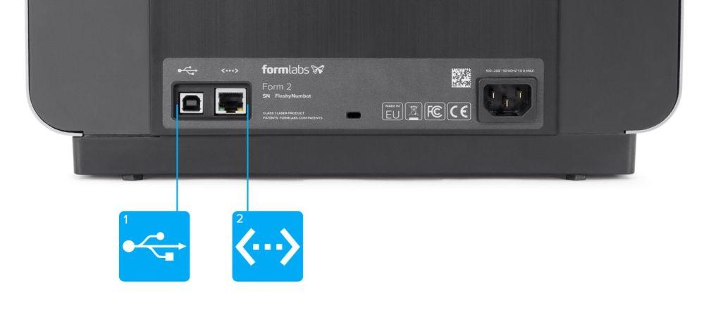 medium resolution of back of form 2 showing usb port and ethernet port