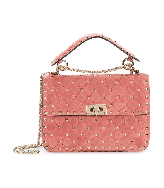 Valentino Red Medium Rockstud Shoulder Bag $2795