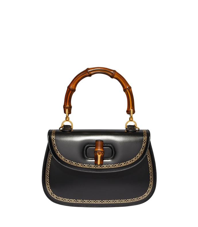 Gucci Black Bamboo Classic Bag $3500