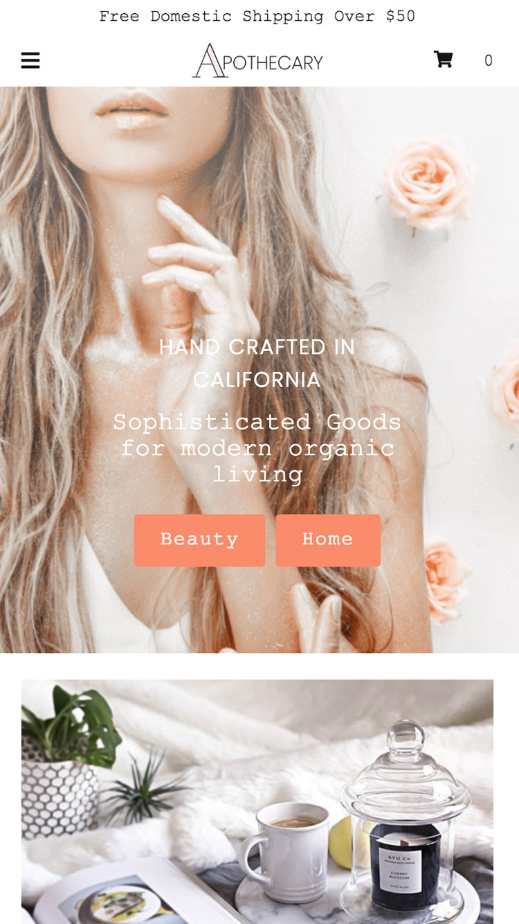 Apothecary Theme  Mr Parker Ecommerce Website Template