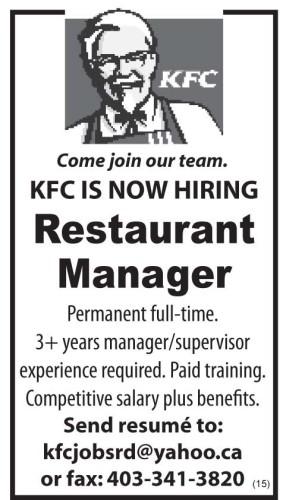 ShopLocalNow : Canada : Employment : Directory : KFC IS