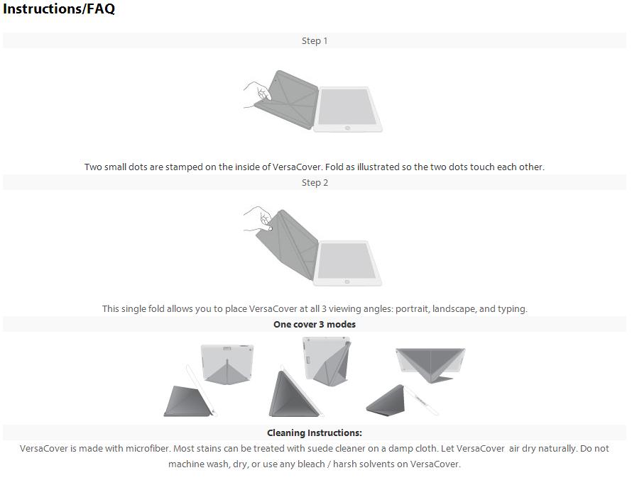 Moshi® VersaCover Mini Origami Case for iPad Mini 1/2/3