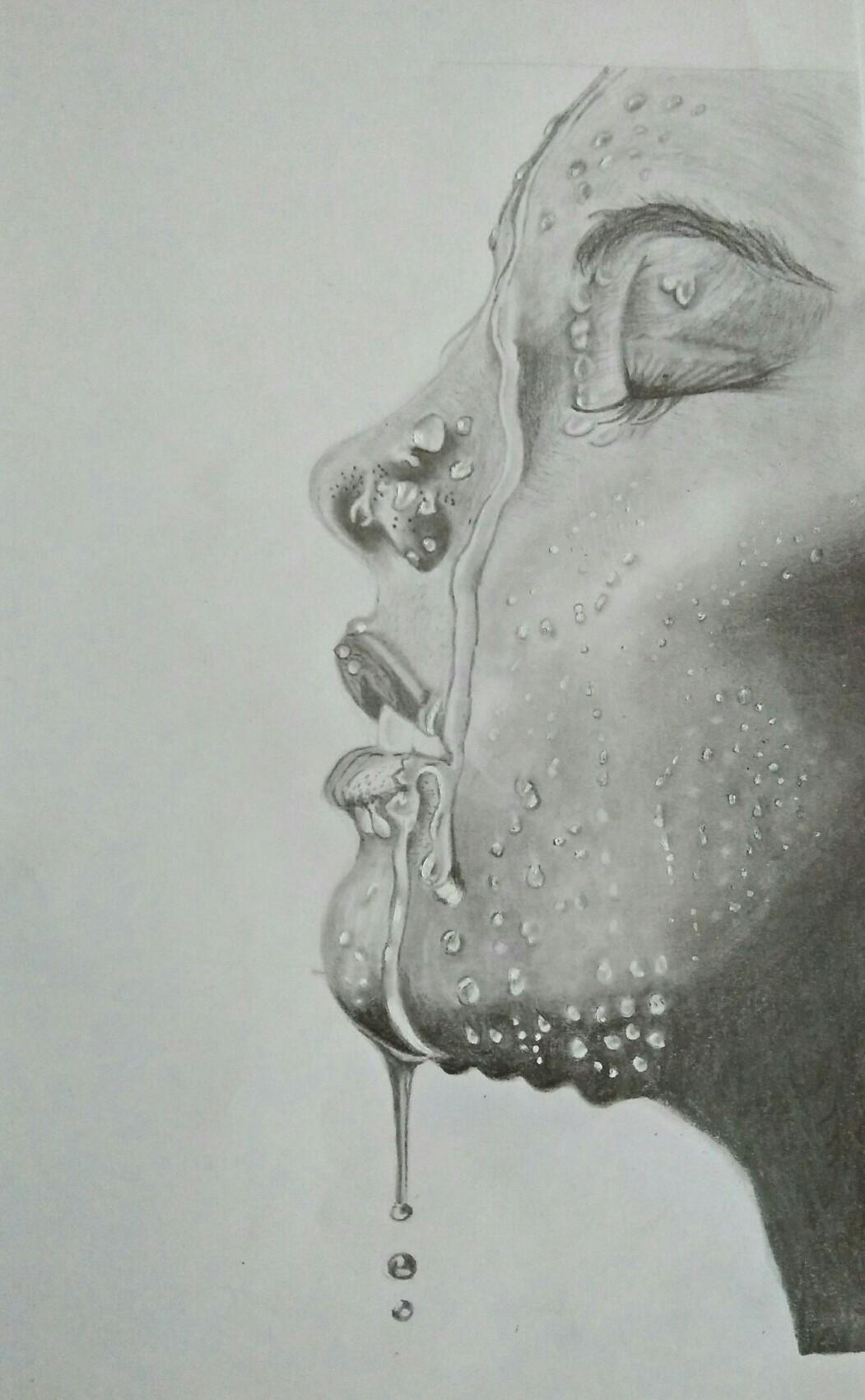 Woman Pencil Sketch : woman, pencil, sketch, Strong, Woman:, Pencil, Sketch, Akhila