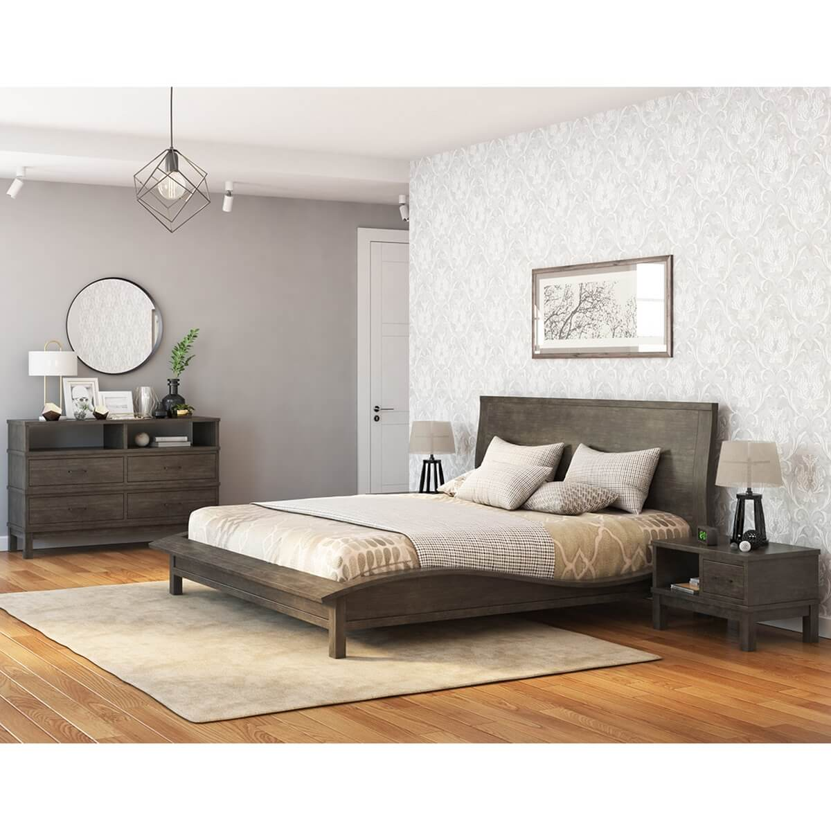 An amazon discount code, also known as a promotional code, is a digital code provided by the online retailer amazon and is generally entered during the onl an amazon discount code, also known as a promotional code, is a digital code provide. El Dorado Mahogany Wood Gray 4 Piece Bedroom Set