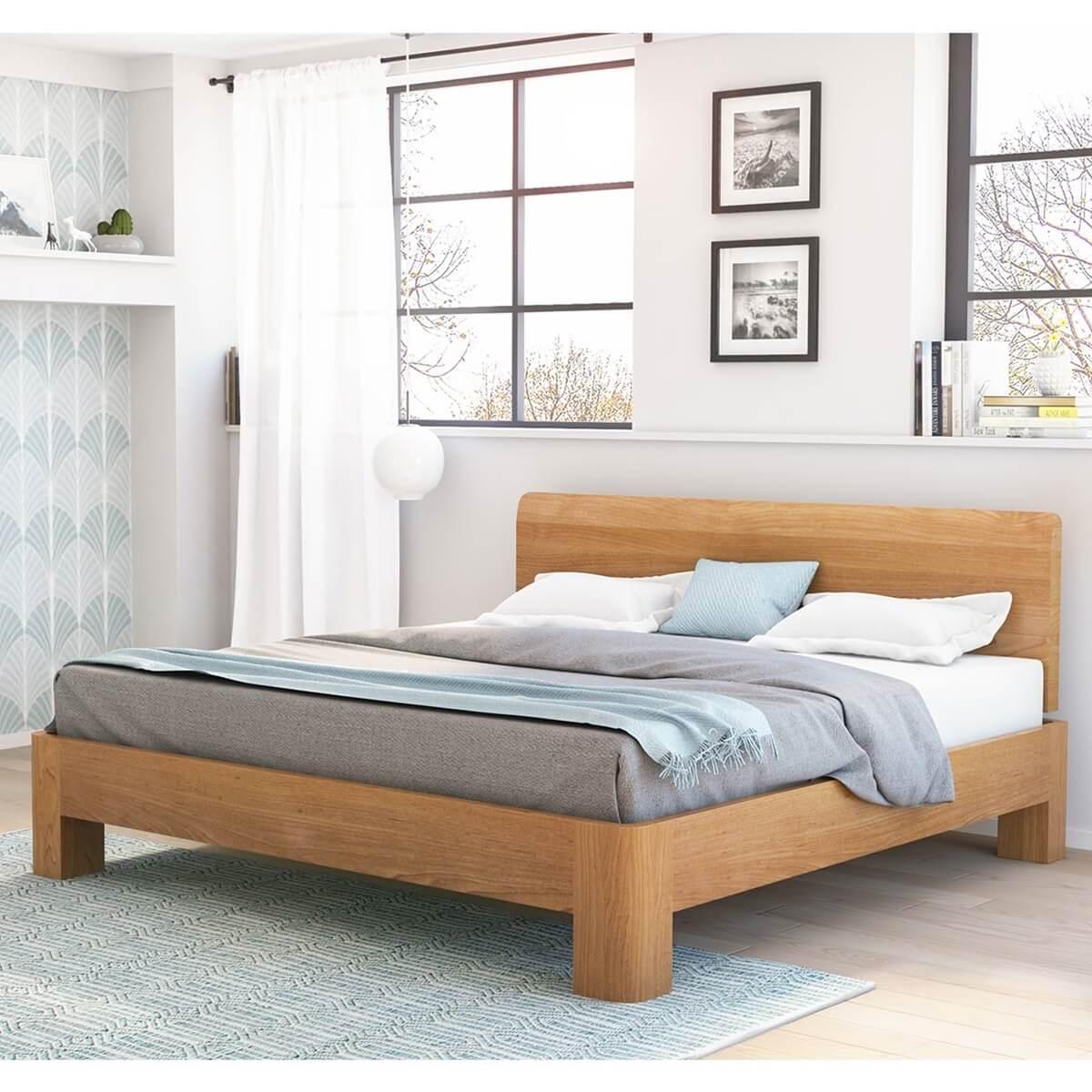 rebersburg solid teak wood platform bed