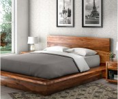 solid oak platform bed