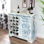 Winter Morning Reclaimed Wood Freestanding Wine Bar Cabinet