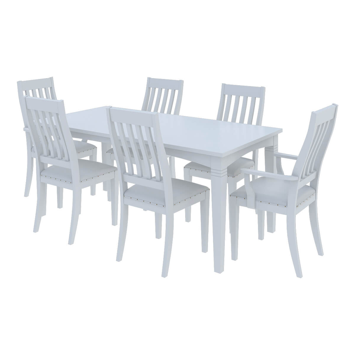 White Wooden Dining Chairs Ennis Solid White Mahogany Wood Dining Table Chair Set