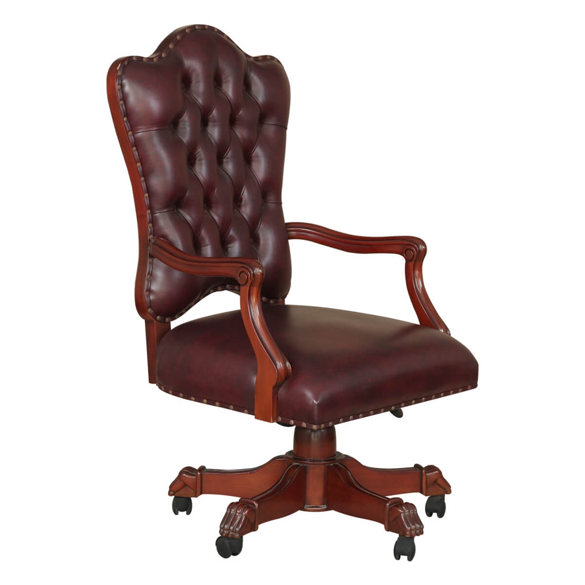 hight resolution of  tufted rolling executive office chair hover to zoom