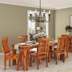 Table Chair Set 4 Patio Rustic Dining And Sets Sierra Living Concepts Idaho Modern Solid Wood