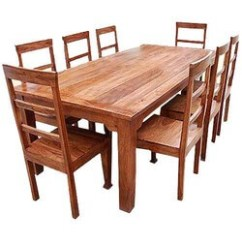 Rustic Dining Table And Chairs Gray Chaise Lounge Chair Sets Sierra Living Concepts Furniture Solid Wood Set