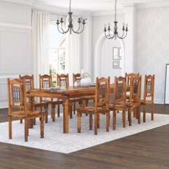 10 Chair Dining Table Set Turquoise Adirondack Chairs Rustic And Sets Sierra Living Concepts San Francisco Furniture Large With