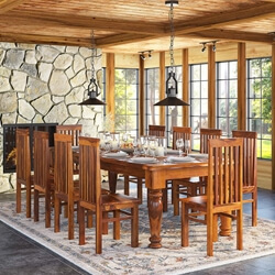 rustic dining table and chairs desk chair dubai sets sierra living concepts clermont furniture solid wood large