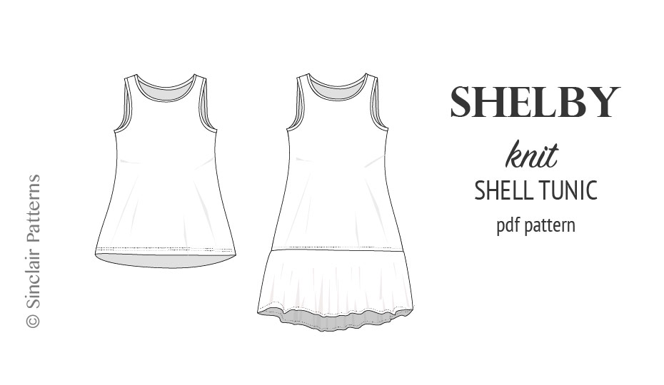 Shelby relaxed cut longline knit shell tunic and dress
