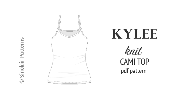Kylee knit classic cami top (PDF)