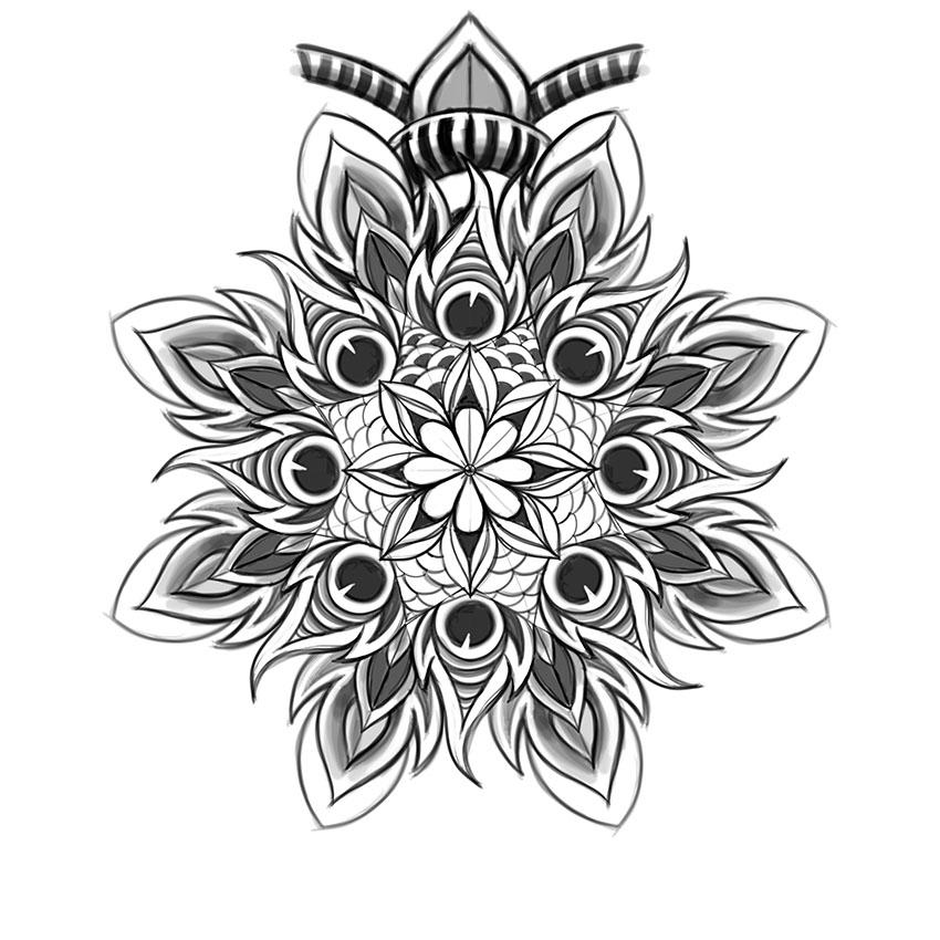 Illustrate a Custom Mandala Design in Adobe Photoshop with