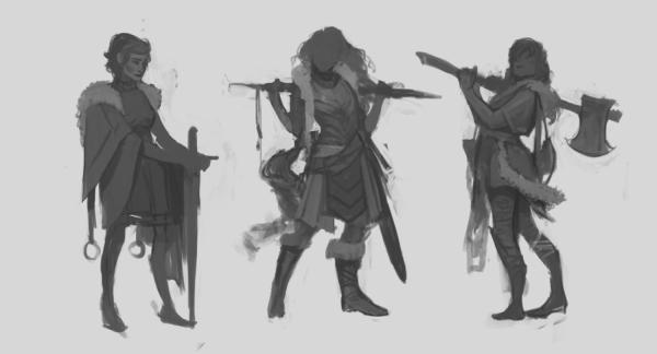 Character Concept Art Initial Sketch Final Design
