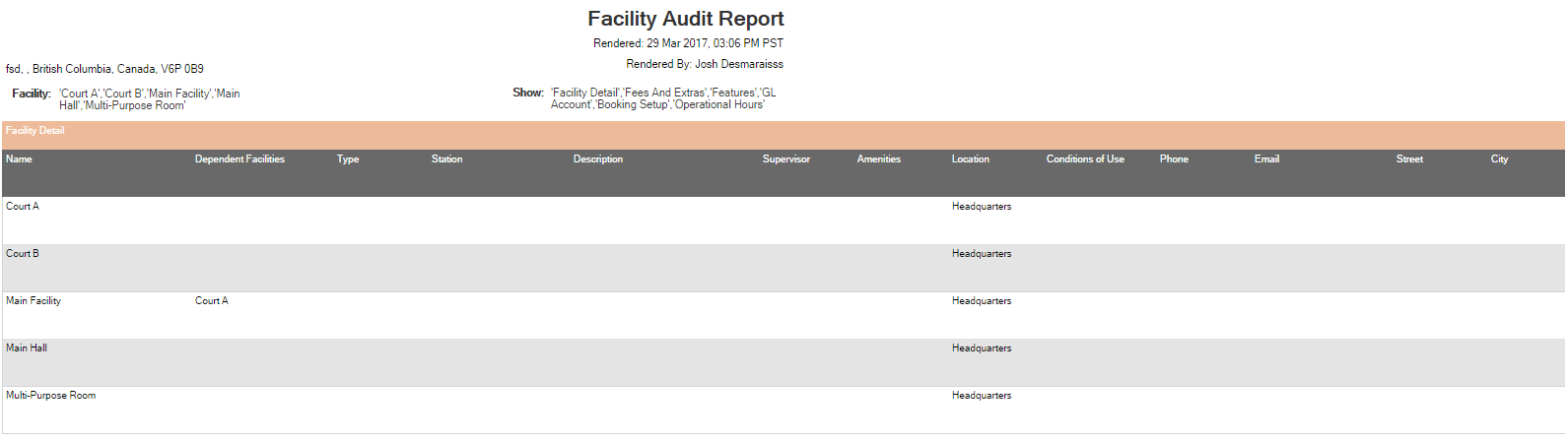 View a Facility Audit Report