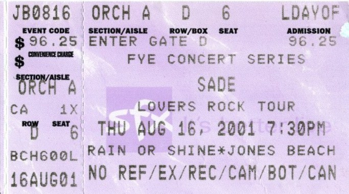 the concert history of