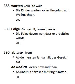 frequentiewoordenboek voorbeeld