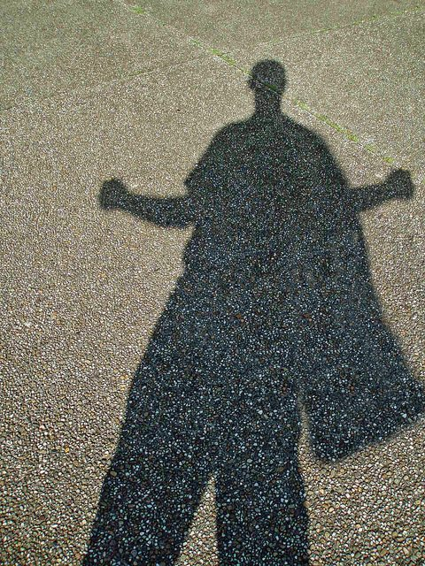 The shadow of a super hero