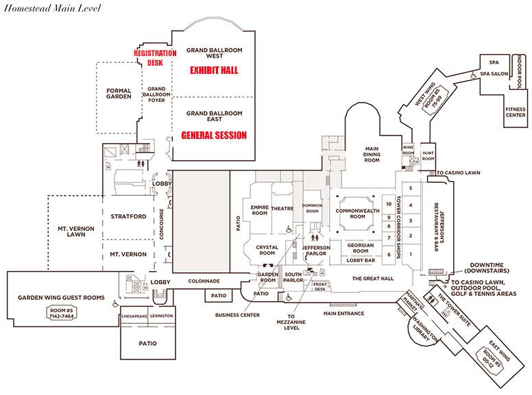 68th Annual Meeting Guide: The Homestead Floorplan