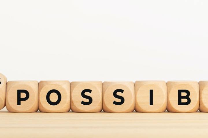 Changing word impossible into its possible