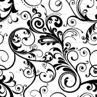 swirls black & white wallpaper - lacefairy - Spoonflower