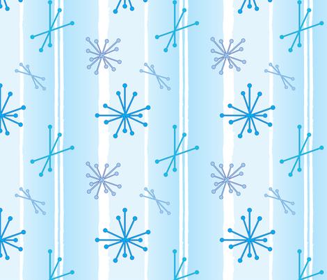 Retro Snow Flakes - Baby Blue