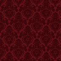 Prancer Ornamental Damask Small Red fabric - kamiekazee ...