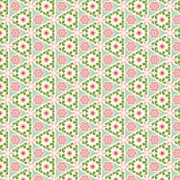 Cream Pyramid Floral - Victorian Rose fabric - inscribed ...