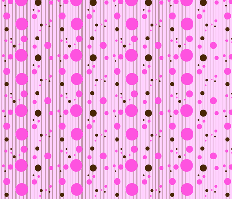 Pink Dot Stripe Fabric