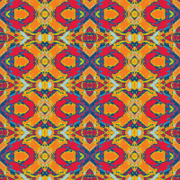 French Provencal Print in Yellow, Red and Orange fabric ...