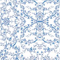 Victorian Vines-Blue Lace fabric - paulette_paulo ...