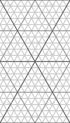 equilateral triangle / hexagonal graph : grey giftwrap