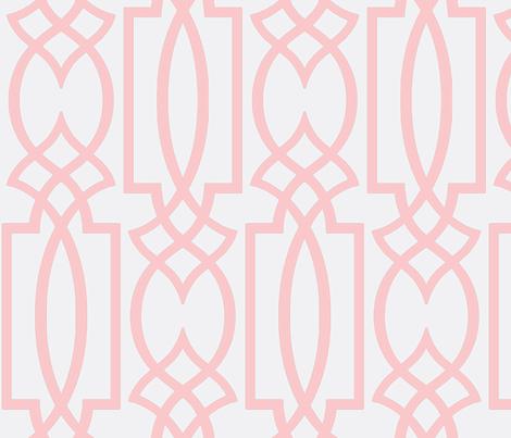 Ruby's Pink Trellis Fabric Theperfectnursery Spoonflower