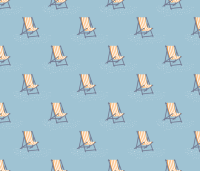 Beach chairs fabric - needlebook - Spoonflower