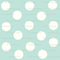 Pretty Polka Dots in Mint wallpaper - thepinkhome ...