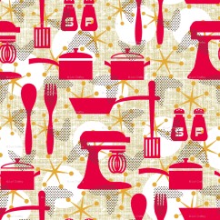 Wallpaper For Kitchen Unit Led Lights Really Retro Littlerhodydesign Spoonflower
