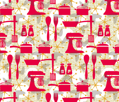 Really Retro Kitchen wallpaper  littlerhodydesign