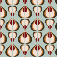 Retro Mod 60s OPART fabric - chickoteria - Spoonflower