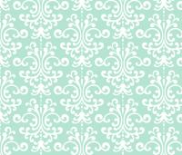 damask lg mint green wallpaper - misstiina - Spoonflower