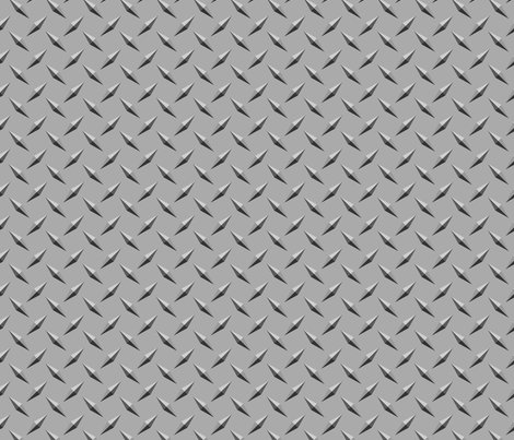 Diamond Plate Metal fabric ripdntorn Spoonflower