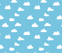 clouds // soft pastel baby blue clouds illustration