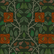 arts and crafts movement fabric wallpaper gift wrap spoonflower