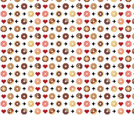 Wallpaper Cute Plain Pixel Donuts 4 Designs By Mayenedesign
